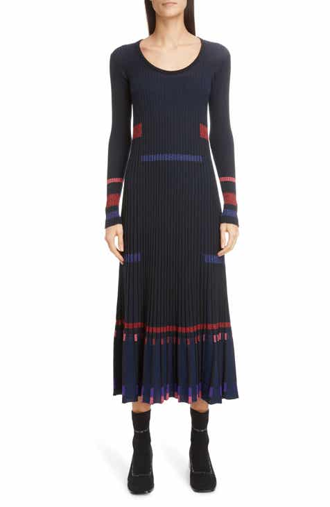 c16dfacb7e3 KENZO Rib Long Sleeve Midi Sweater Dress