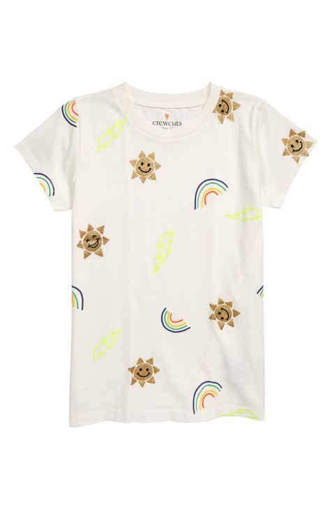 8757c6882e crewcuts by J.Crew Glittery Rain or Shine T-Shirt (Toddler Girls