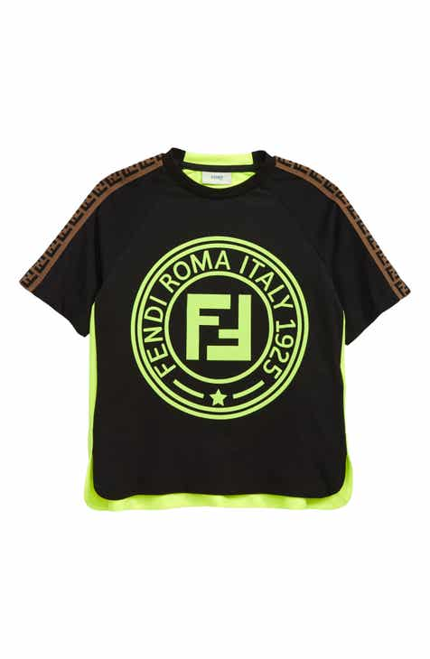 99b21add Fendi Neon Logo T-Shirt (Little Boys & Big Boys)