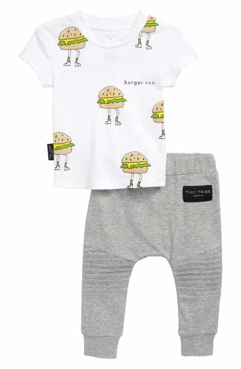 e96c1cc2d6 TINY TRIBE Burger Time T-Shirt & Leggings Set (Baby)