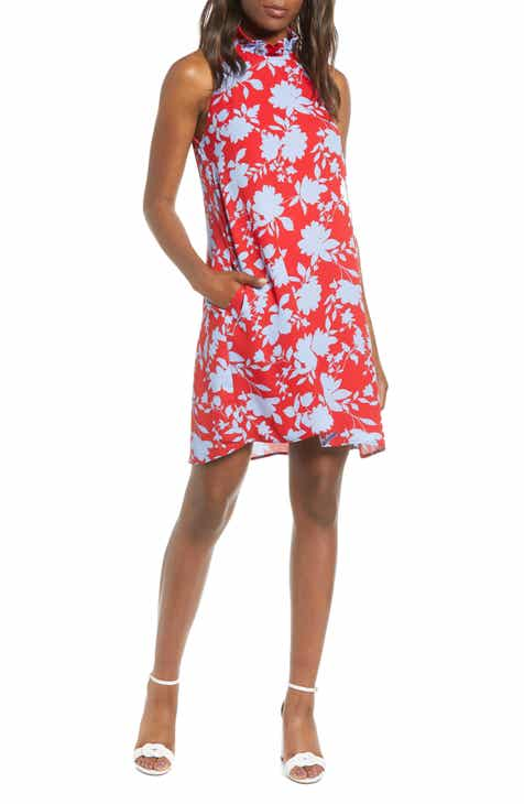 25ad7389 Cavallo Ruffle Neck Date Dress (Regular & Petite)