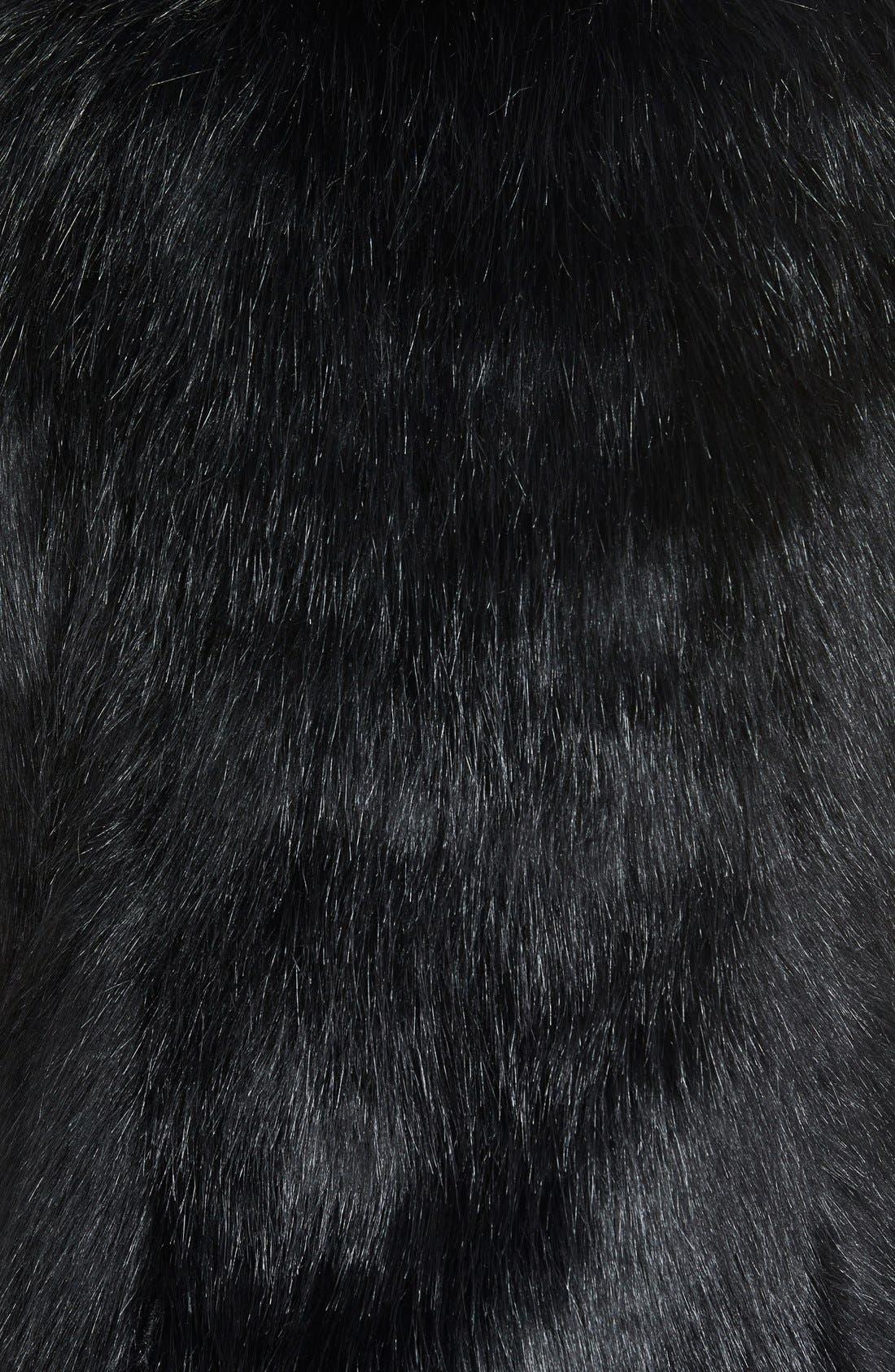 Faux Fur Vest,                             Alternate thumbnail 3, color,                             Black