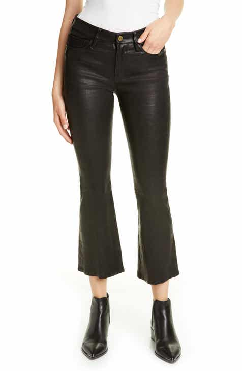 dac3c62a64a3bd FRAME 'Le Skinny' Lambskin Leather Pants