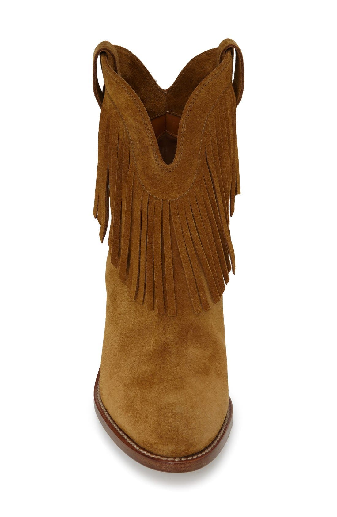 Alternate Image 3  - Saint Laurent 'New Western' Fringe Boot (Women)