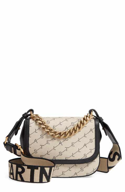 908ae0319672a Stella McCartney Monogram Canvas Chain Crossbody Bag