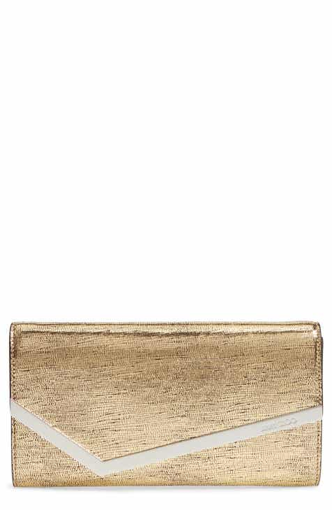 2e7fba8101c Jimmy Choo Emmie Metallic Lizard Embossed Leather Clutch