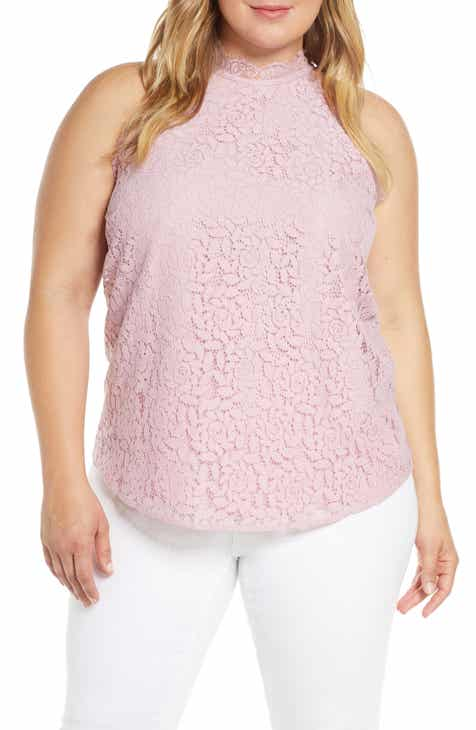 153eed74d87 Gibson x Hot Summer Nights Almost Ready Lace Trim Sleeveless Top (Plus  Size) (Nordstrom Exclusive)