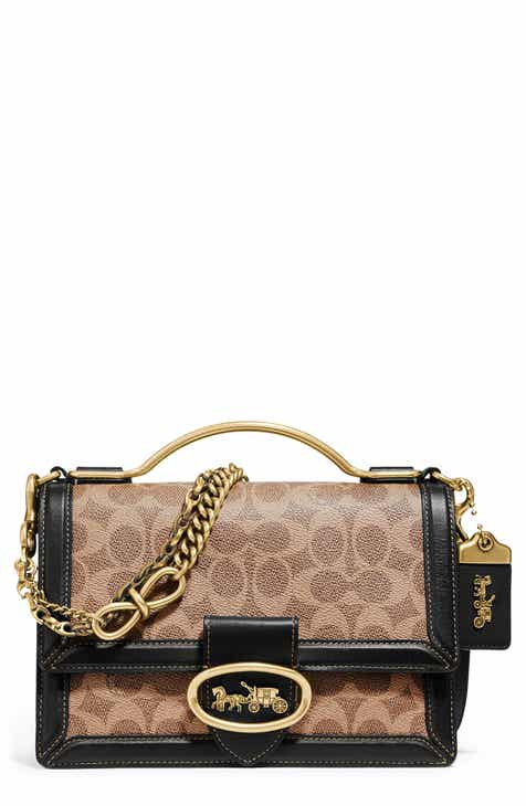 4691a1d29ee9e COACH Riley Signature Top Handle Crossbody Bag