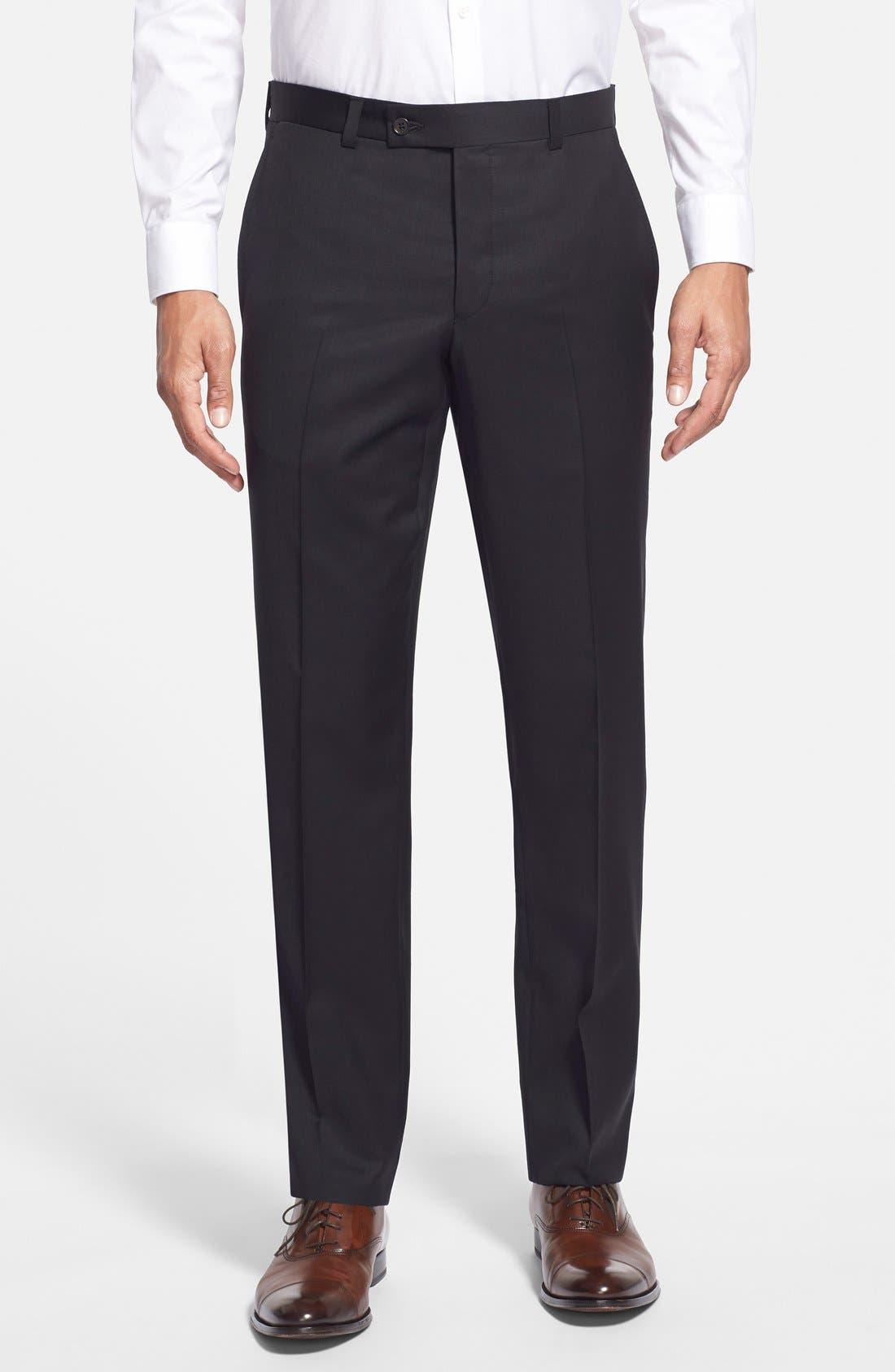 Main Image - Ted Baker London Jefferson Flat Front Wool Trousers