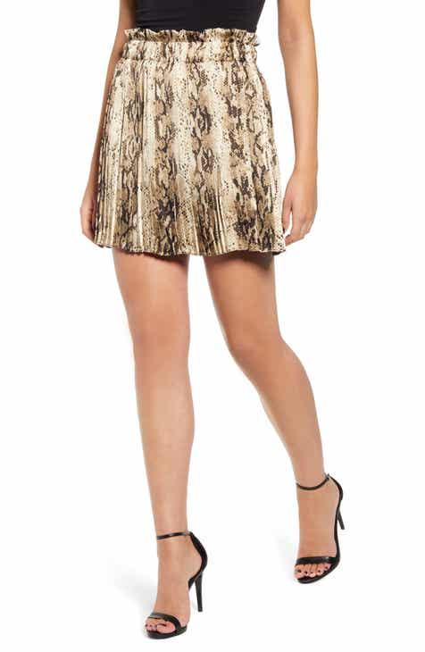 800d6f97e Endless Rose Snake Print Pleated Miniskirt