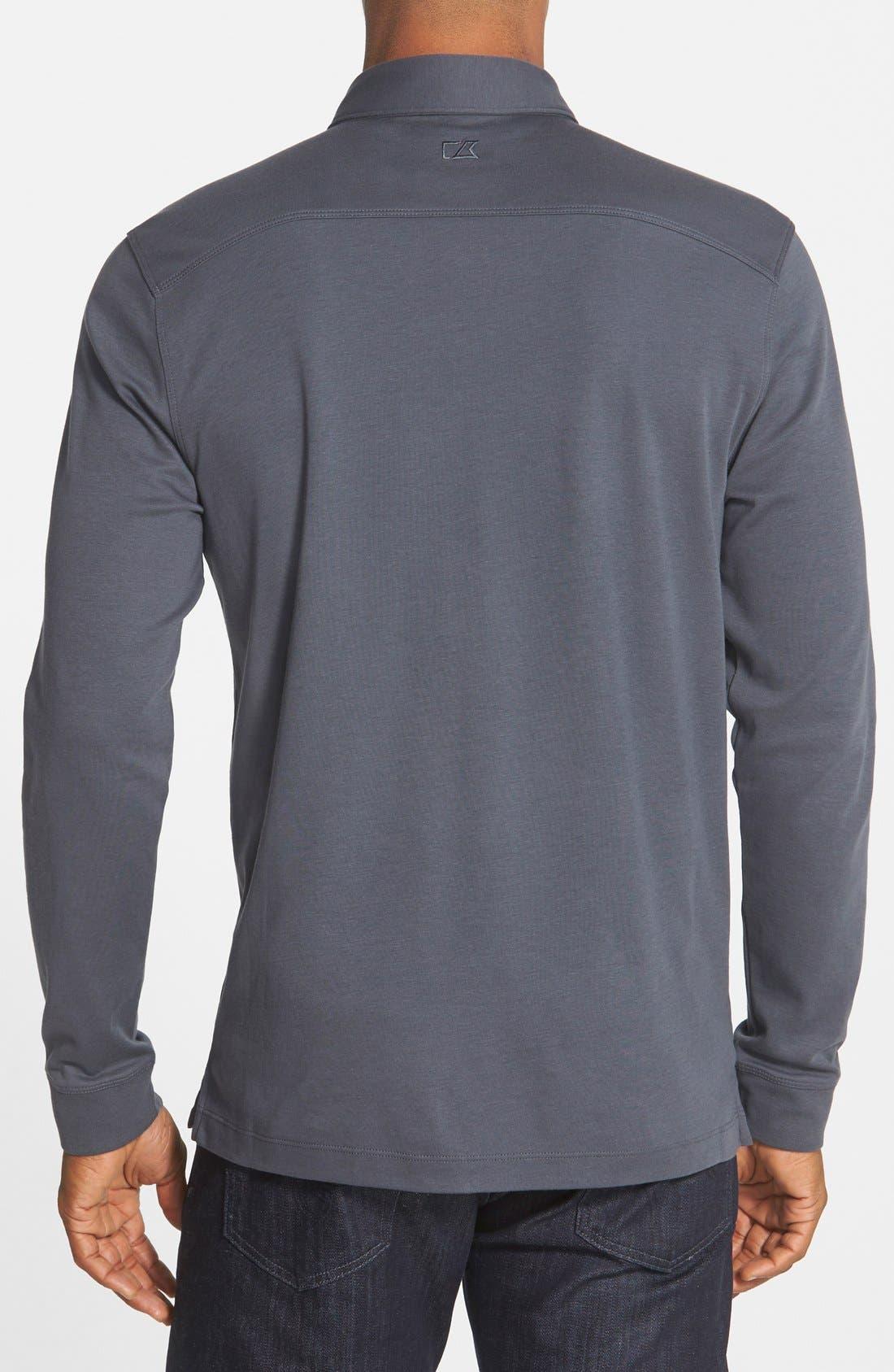 'Belfair' Pima Cotton Polo,                             Alternate thumbnail 2, color,                             Onyx