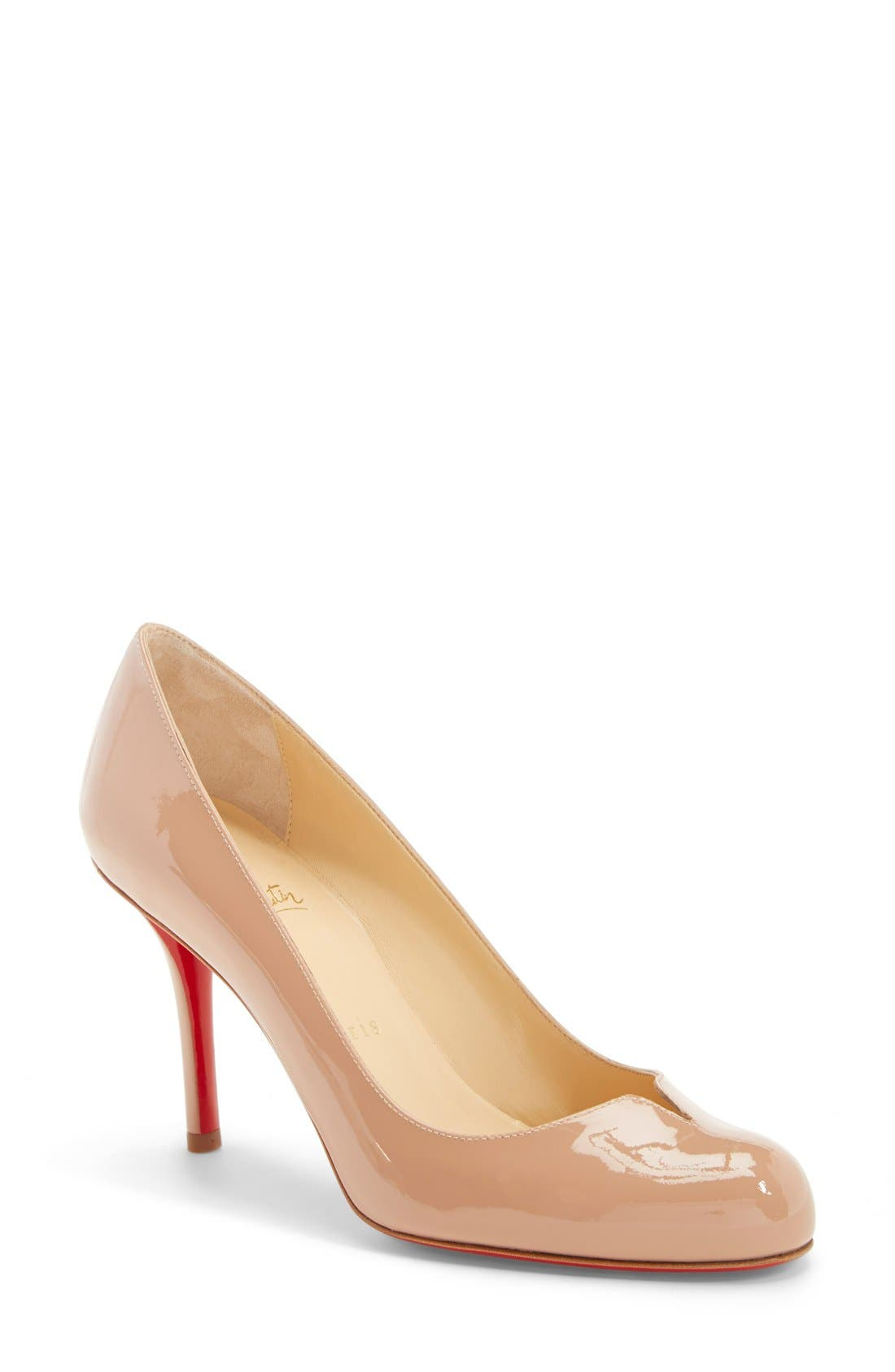 Alternate Image 1 Selected - Christian Louboutin 'Sophia Regina' Notched Round Toe Pump