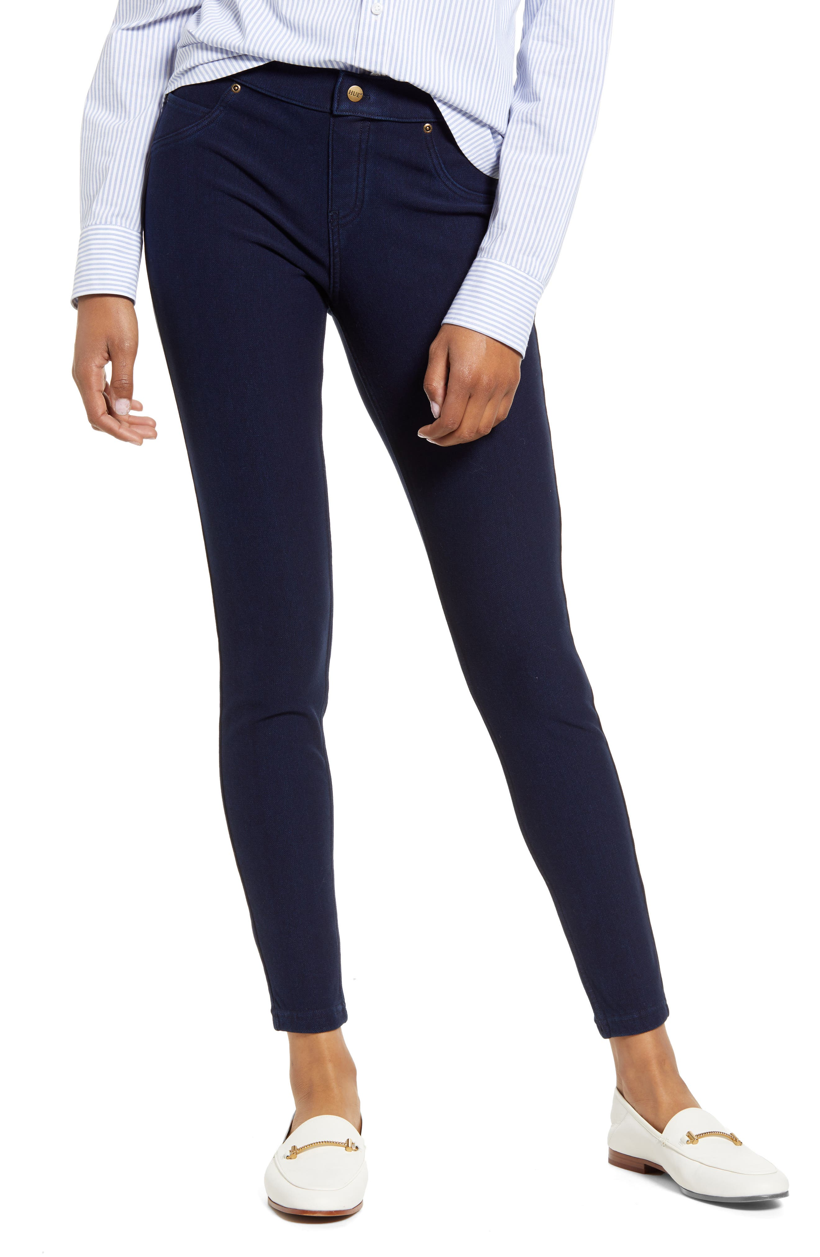 Hue Womens Denim Culotte Leggings Pants