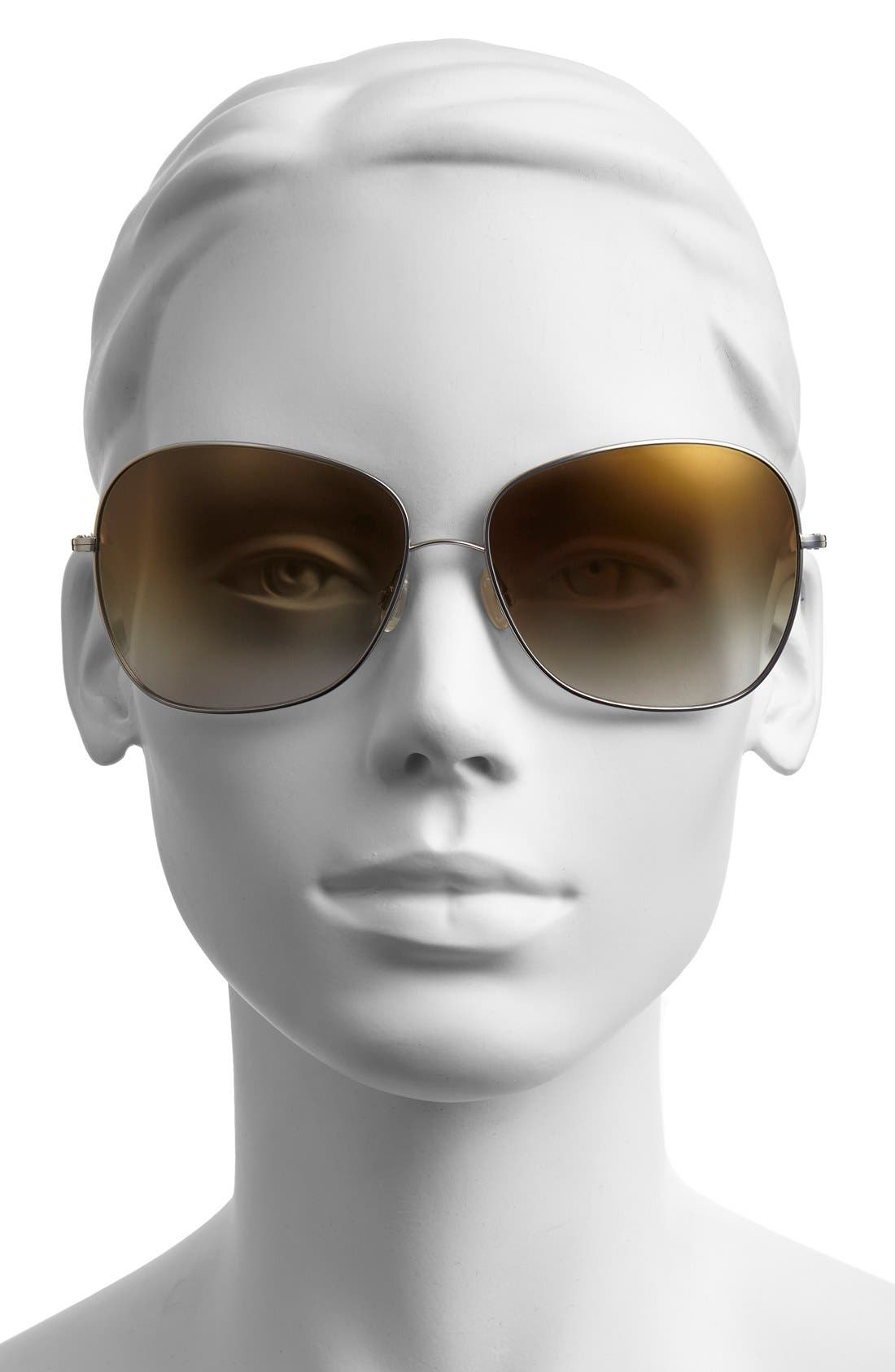 Alternate Image 2  - Oliver Peoples Elsie 64mm Oversize Metal Sunglasses