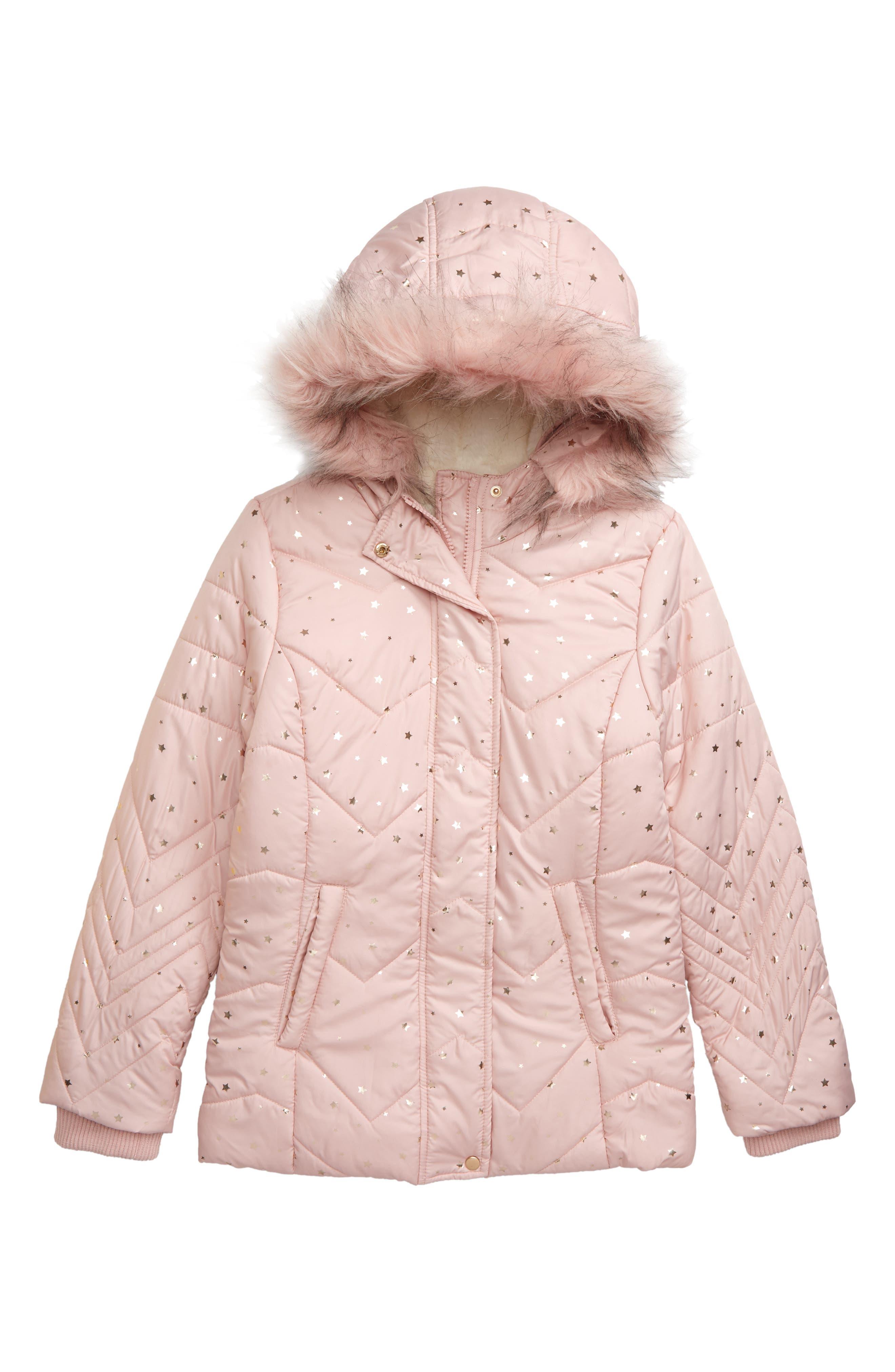 Derhy Kids Girls Fabiola Faux Fur Coat