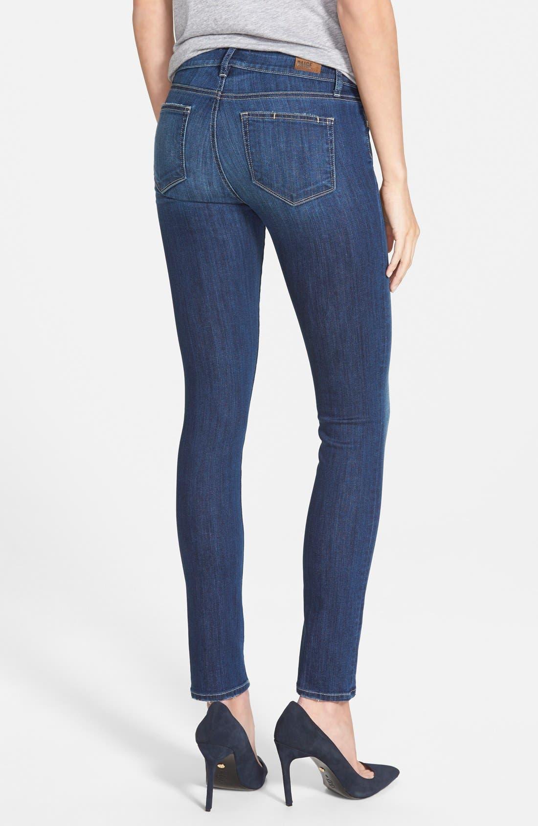 Alternate Image 3  - Paige Denim 'Skyline' Skinny Jeans (Raya) (Nordstrom Exclusive)