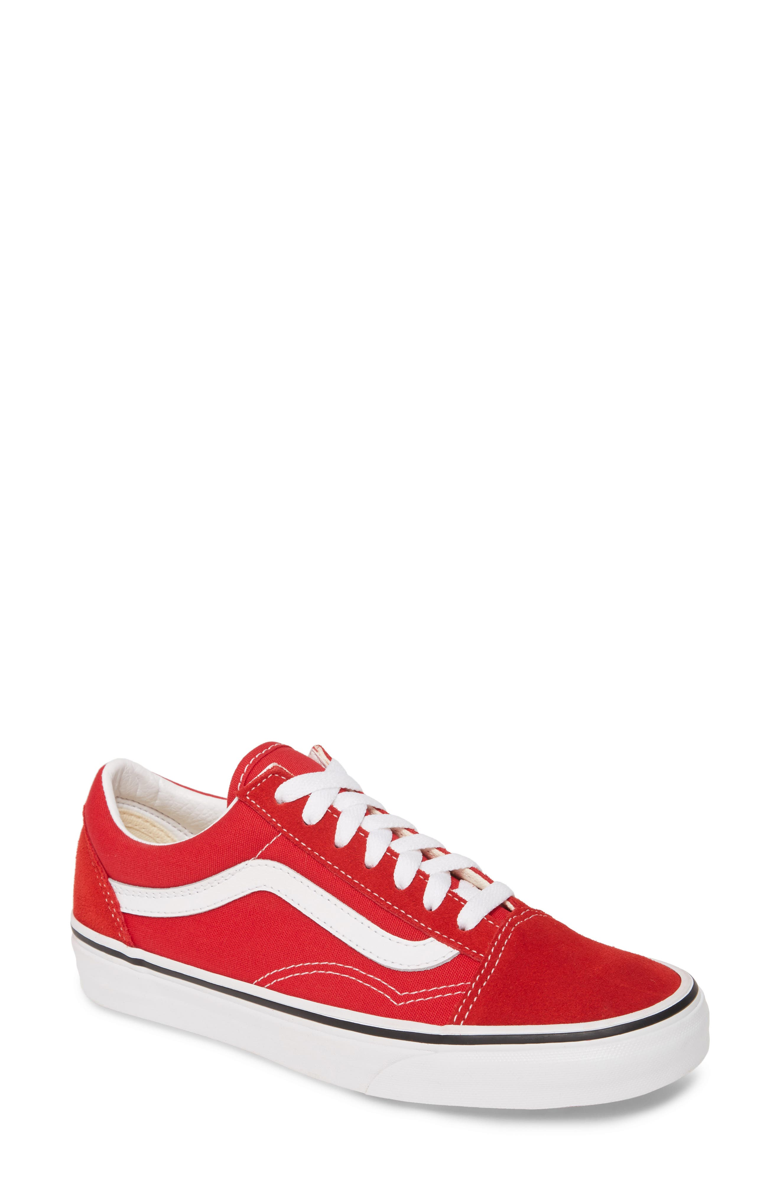 womens red athletic shoes