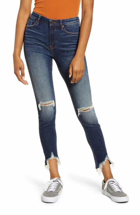 Vigoss Distressed High Waist Ankle Skinny Jeans