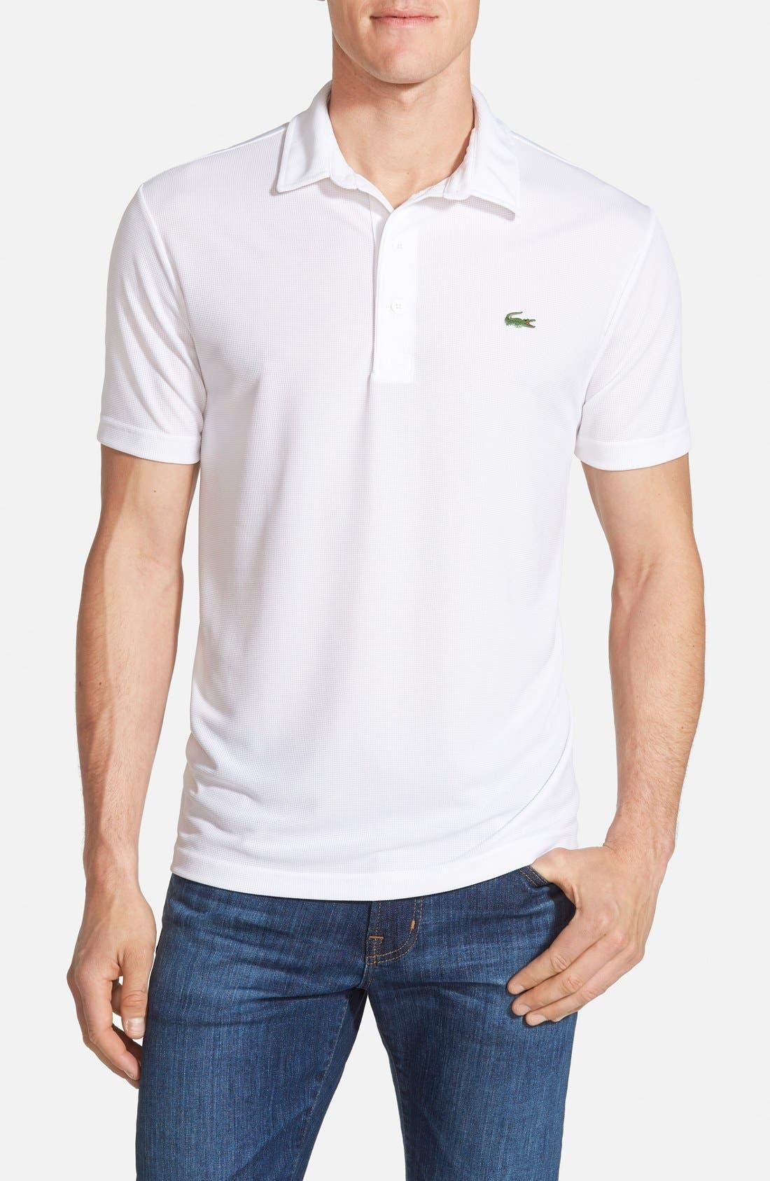 Ultra Dry Piqué Golf Polo,                         Main,                         color, White