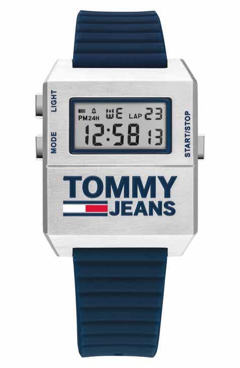 TOMMY JEANS Digital Rubber Strap Watch, 32.5mm x 42mm