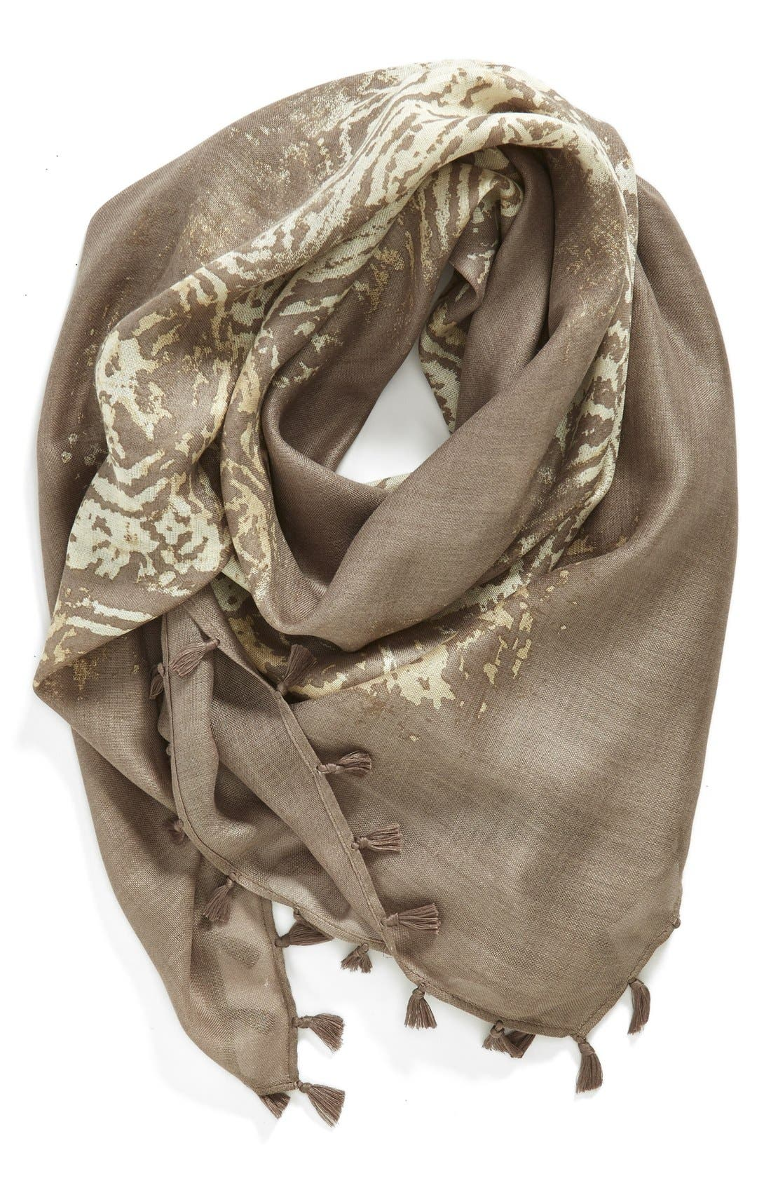 Alternate Image 1 Selected - Hinge 'Fade Away' Square Tassel Scarf