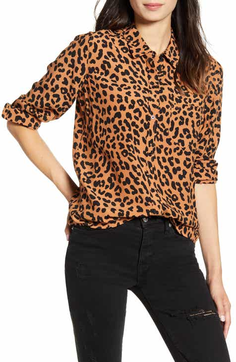 Rails Kathryn Jaguar Print Shirt