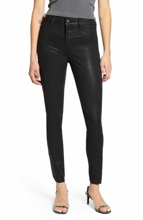 Articles of Society Hilary High Waist Coated Skinny Jeans (Hunter)