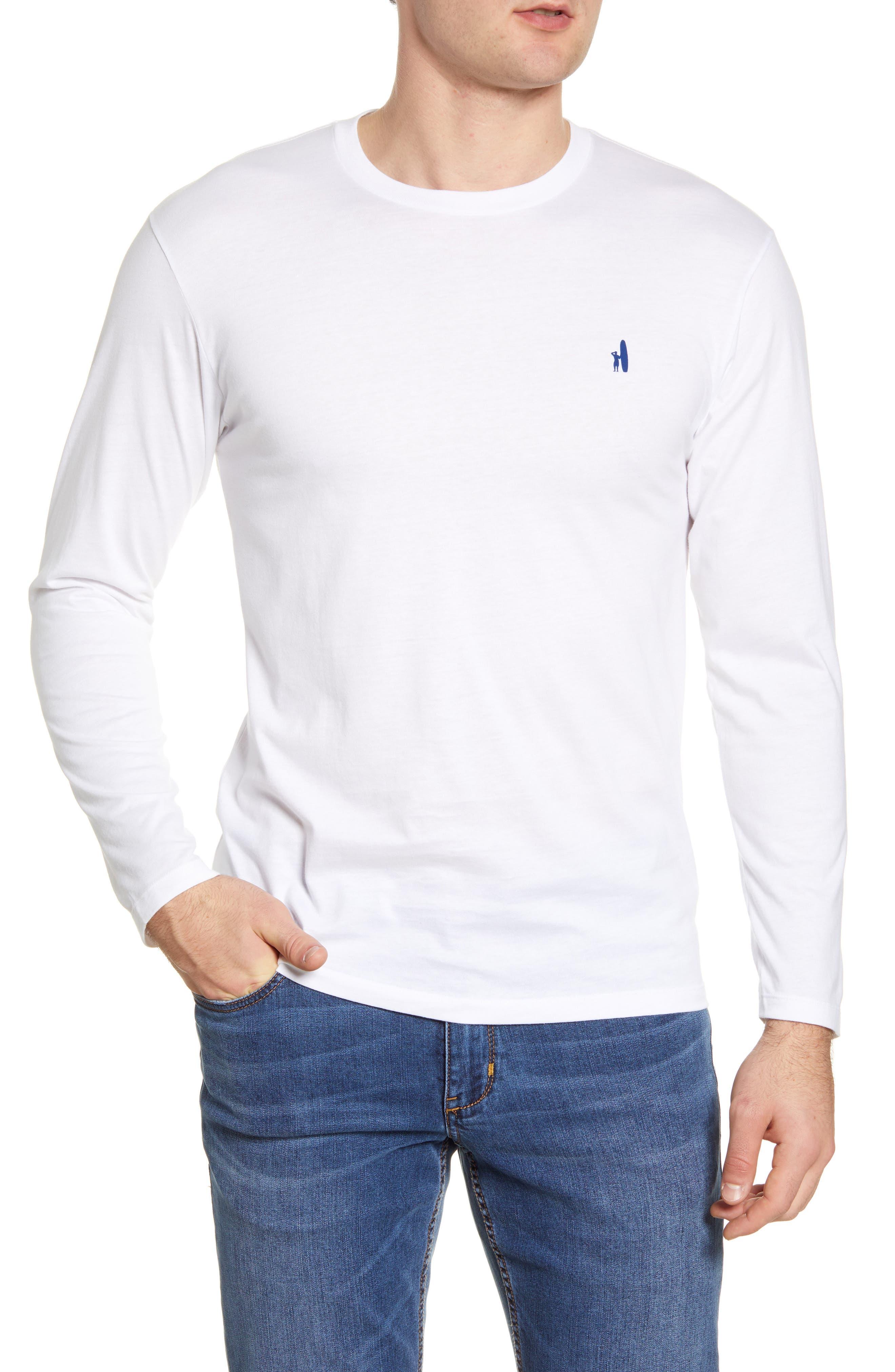 White johnnie-O Deck Long Sleeve T-Shirt