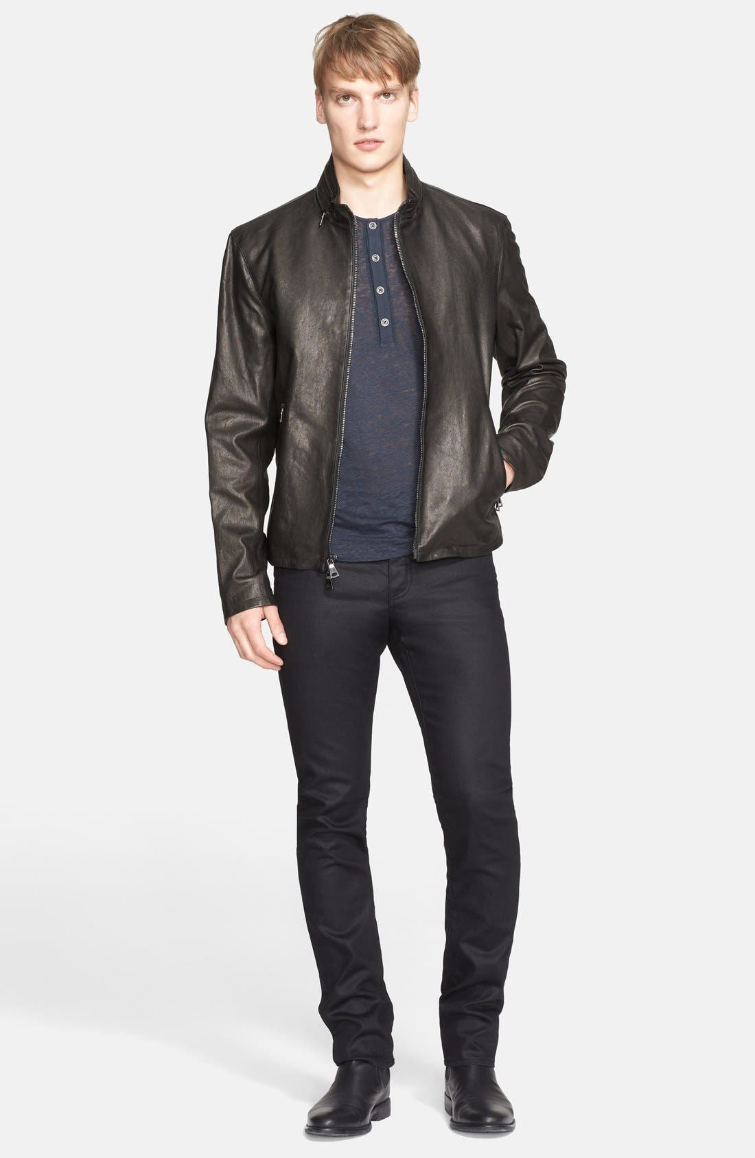Alternate Image 6  - John Varvatos Collection Slim Fit Jeans (Ink)