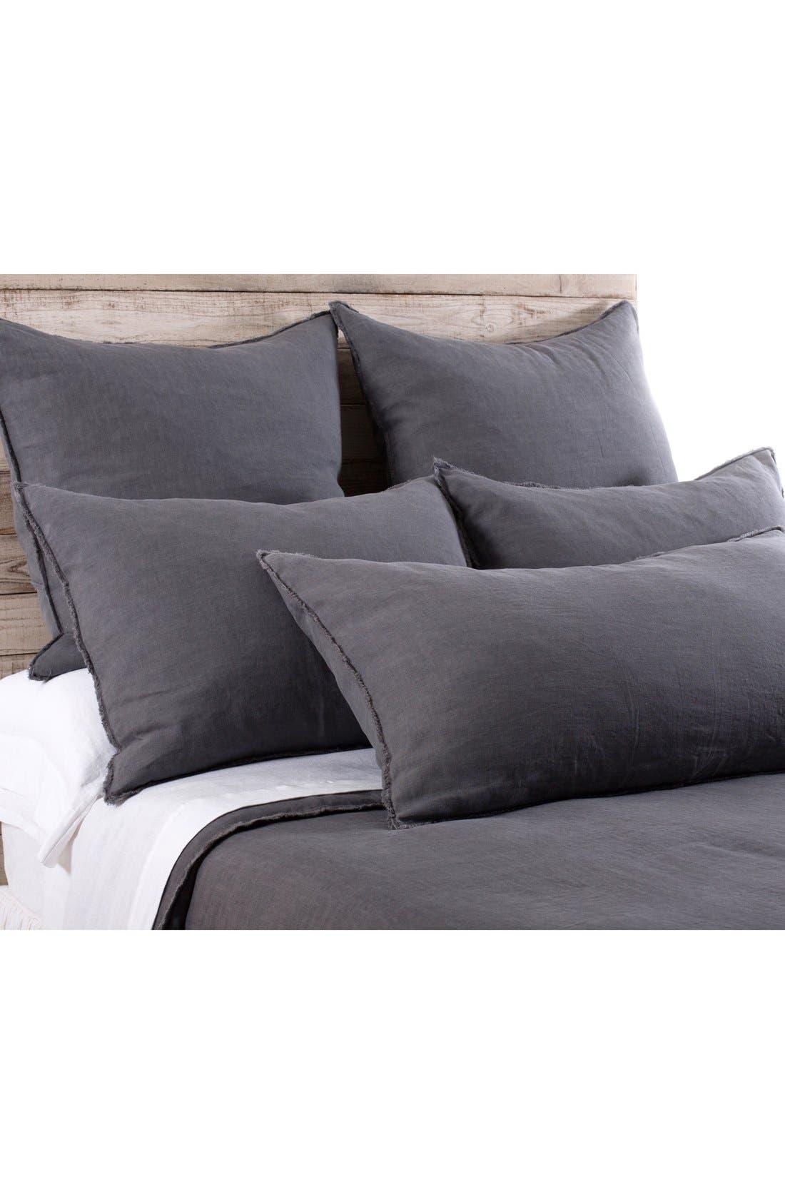 'Blair' Linen Euro Pillow Sham,                             Alternate thumbnail 2, color,                             Midnight
