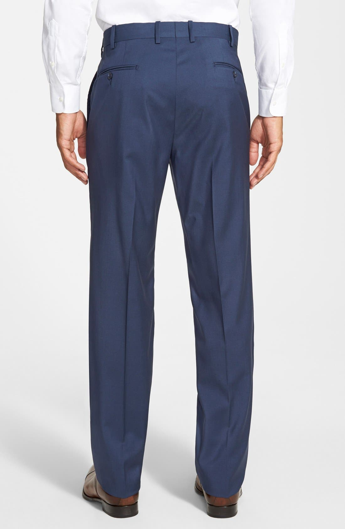 Alternate Image 2  - JB Britches 'Torino' Flat Front Wool Trousers