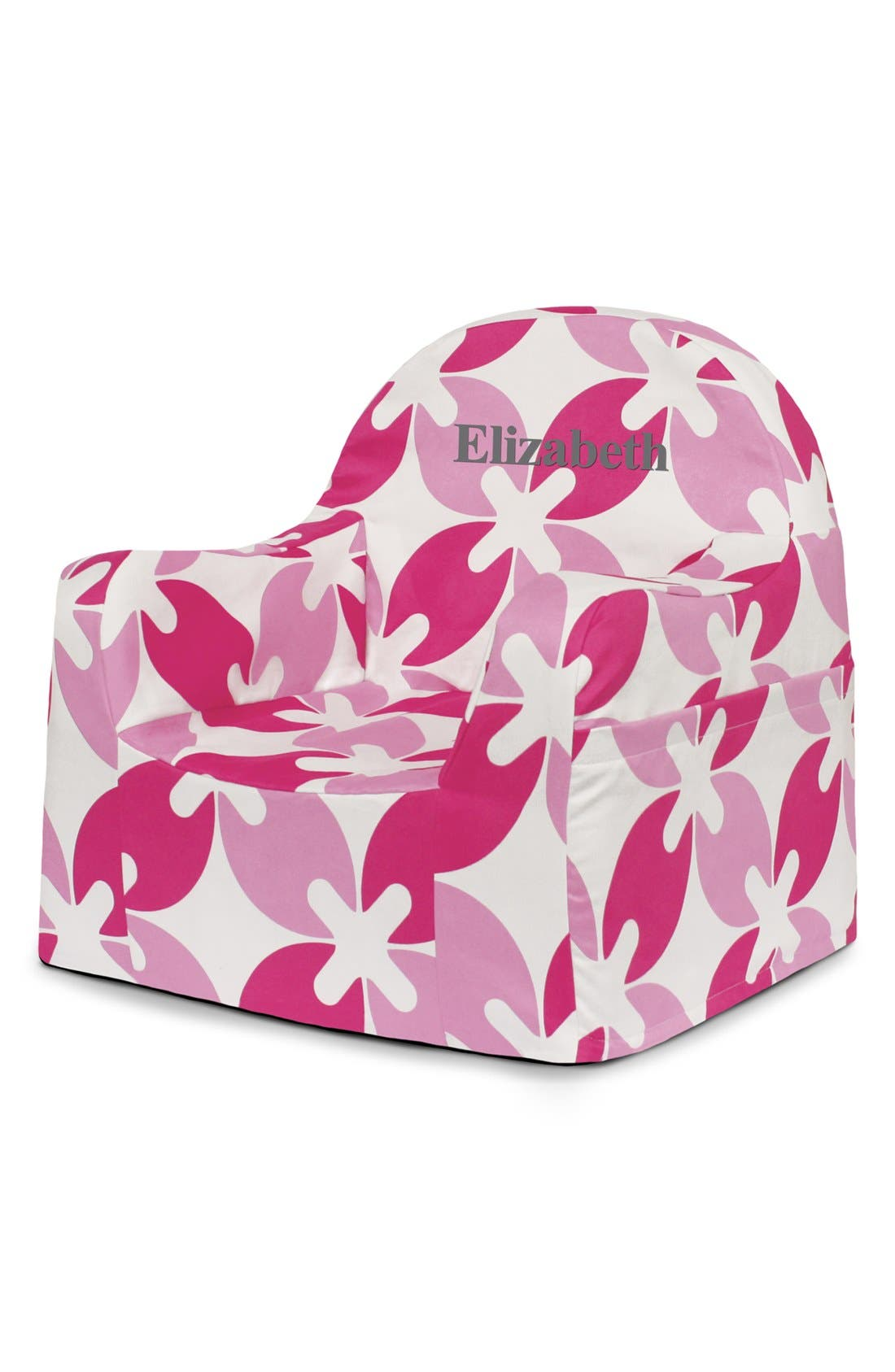 'Personalized Little Reader' Chair,                         Main,                         color, Pink Leaves