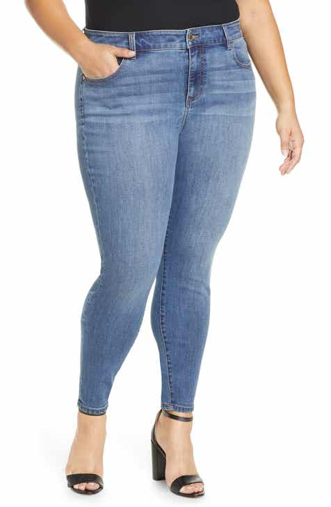 Liverpool Abby High Waist Ankle Skinny Jeans (Laine) (Plus Size)