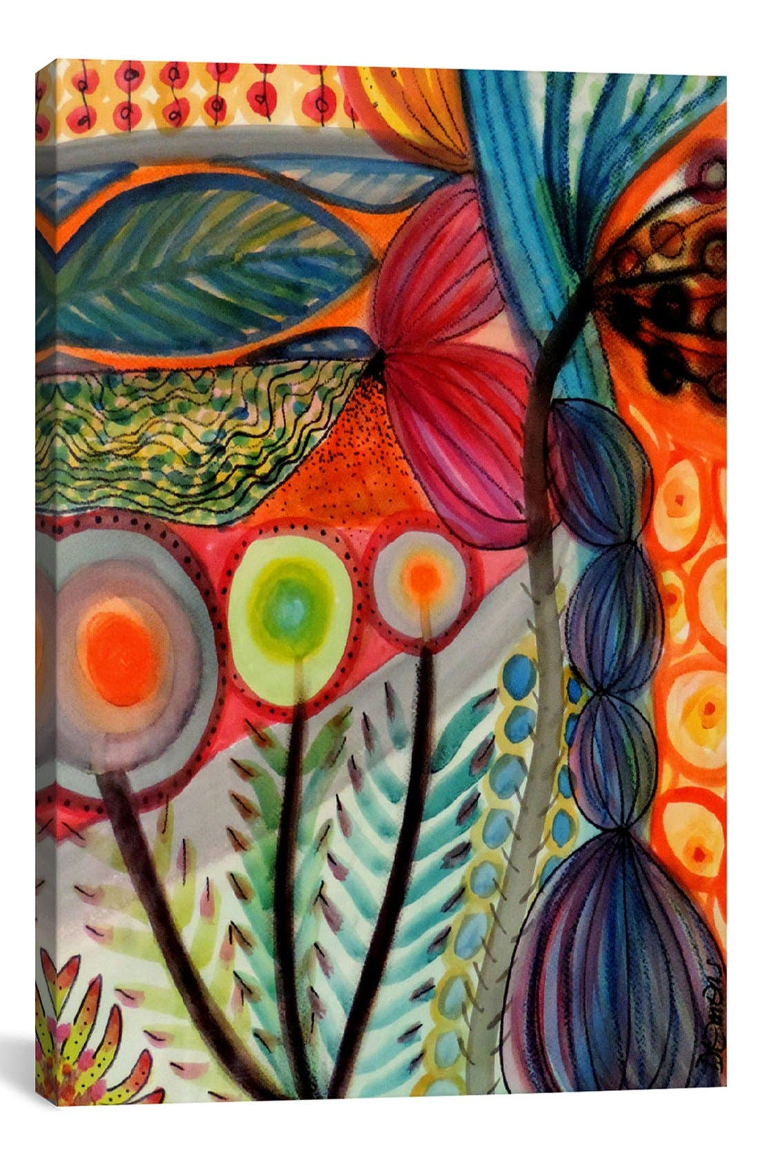 'Vivaces - Sylvie Demers' Giclée Print Canvas Art,                             Main thumbnail 1, color,                             Orange