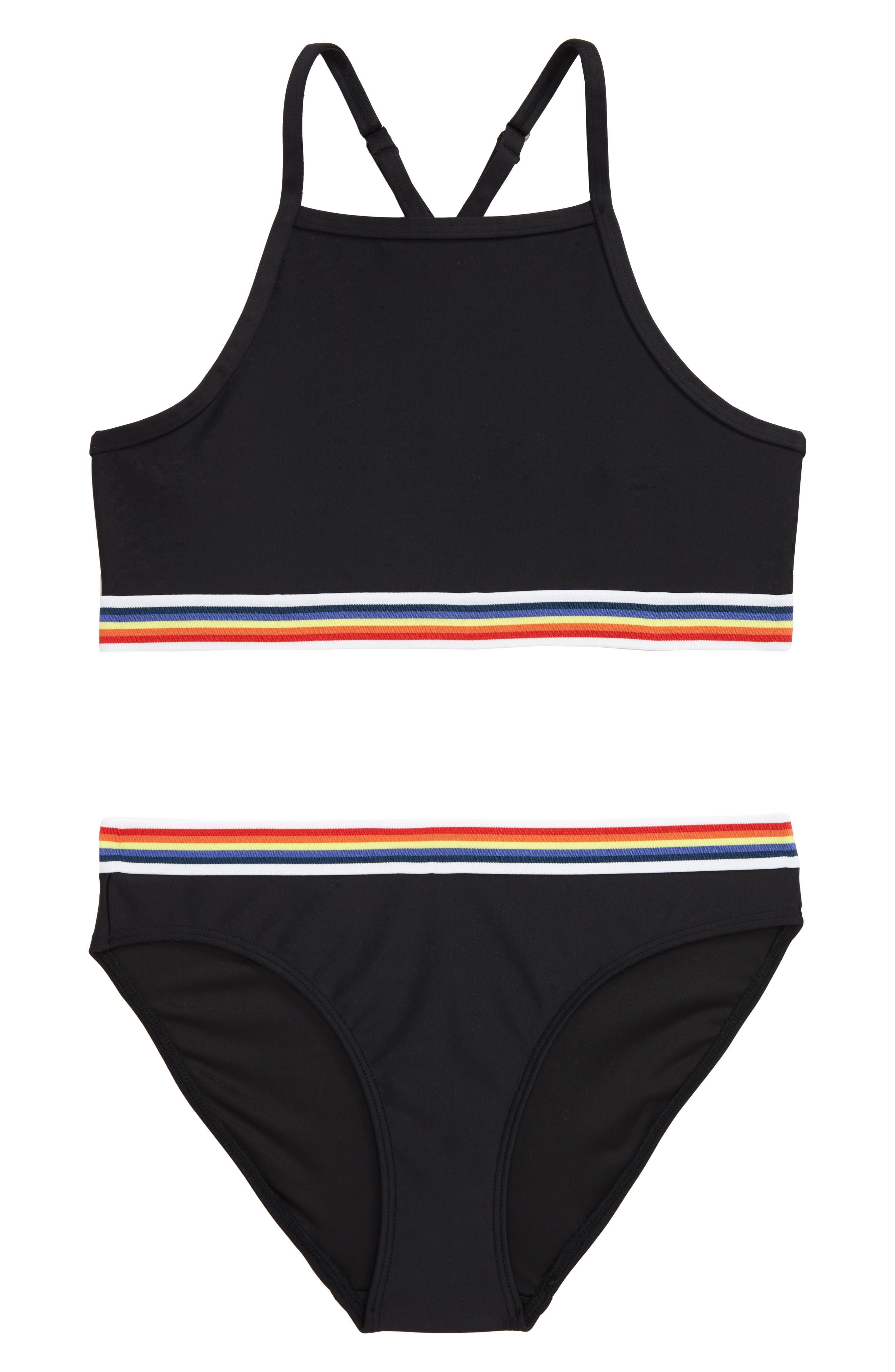 Girls Swimming Costume Bikini Swimwear Swimsuit Age 9 10 12 13 14 15 16 18 Years