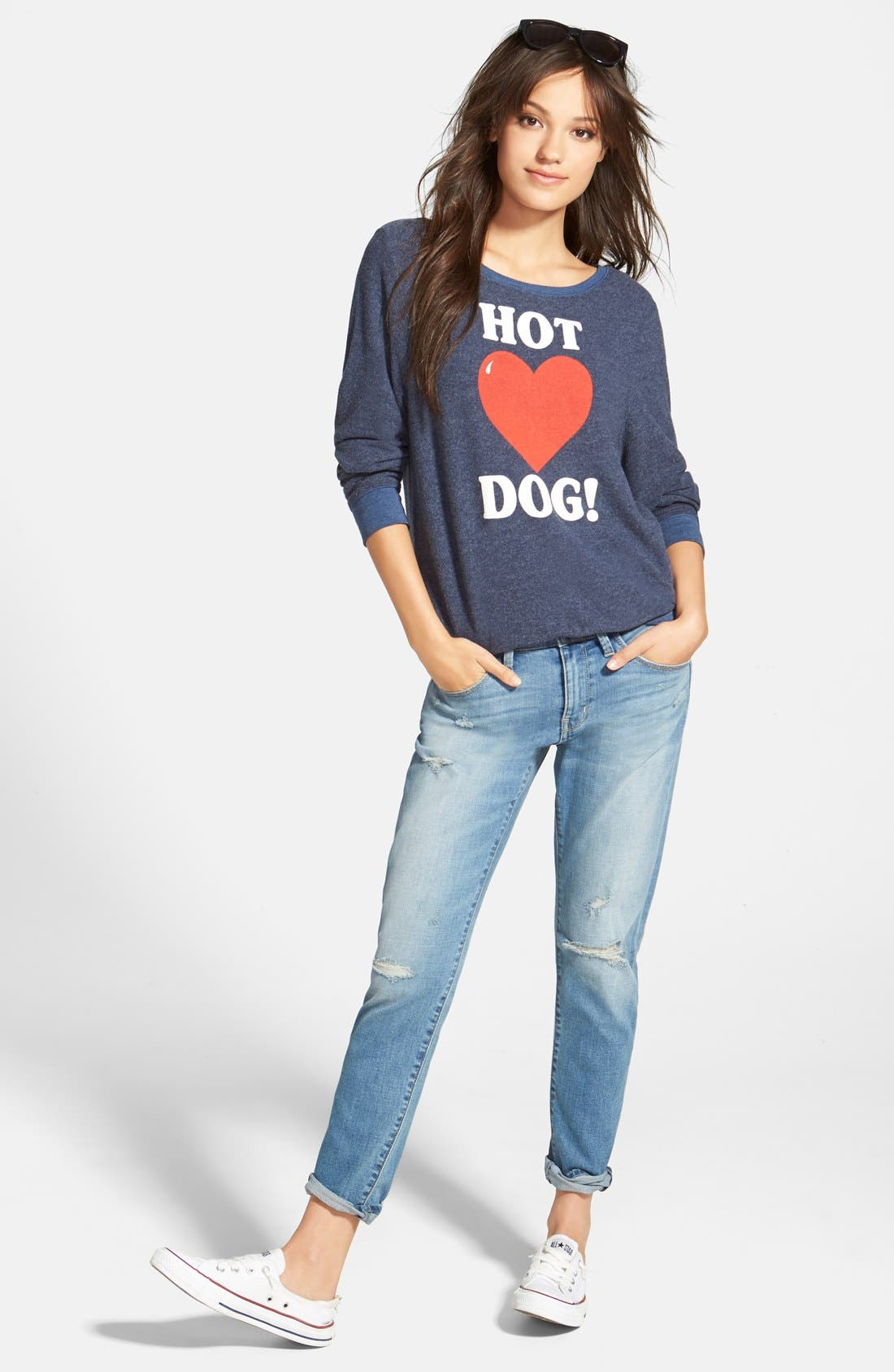 Alternate Image 5  - Wildfox 'Hot Dog Love - Baggy Beach Jumper' Pullover