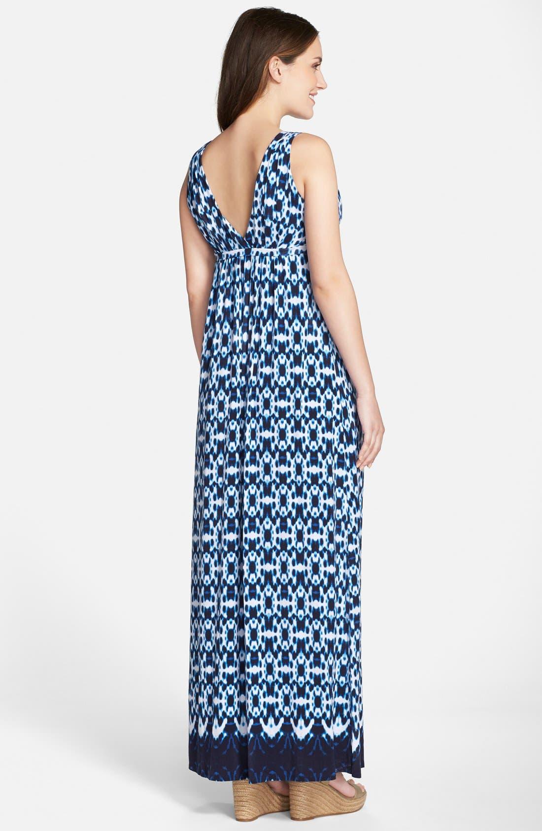 'Chloe' Maternity Maxi Dress,                             Alternate thumbnail 2, color,                             Circle Tie Dye