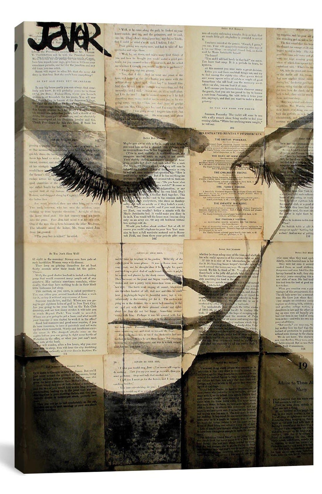 'Birds' Giclée Print Canvas Art,                         Main,                         color, Beige