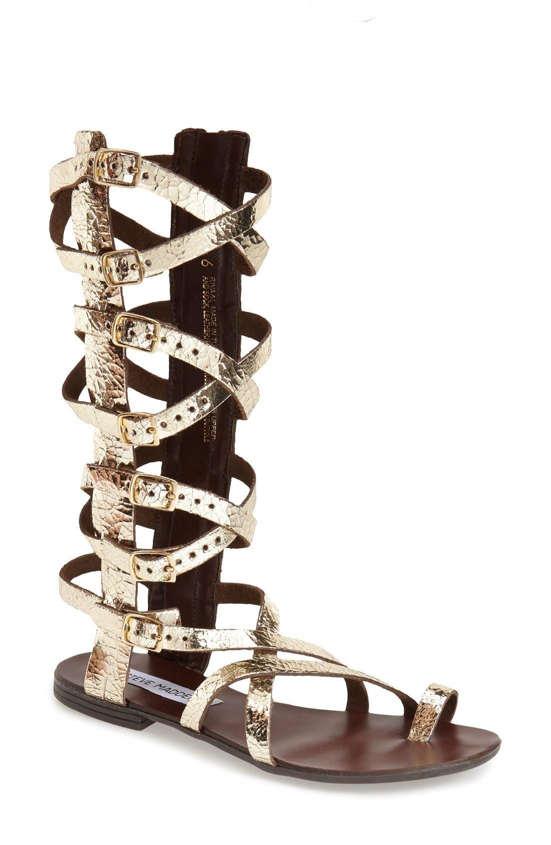 Main Image - Steve Madden 'Rivaal' Tall Gladiator Sandal (Women)