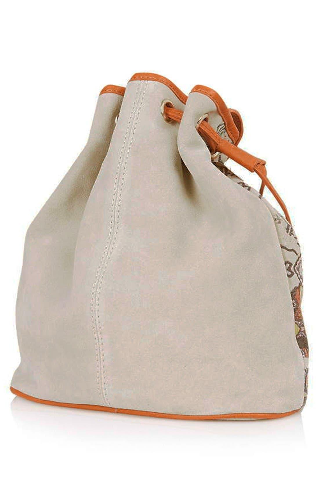 Alternate Image 3  - Topshop Print Suede Bucket Bag