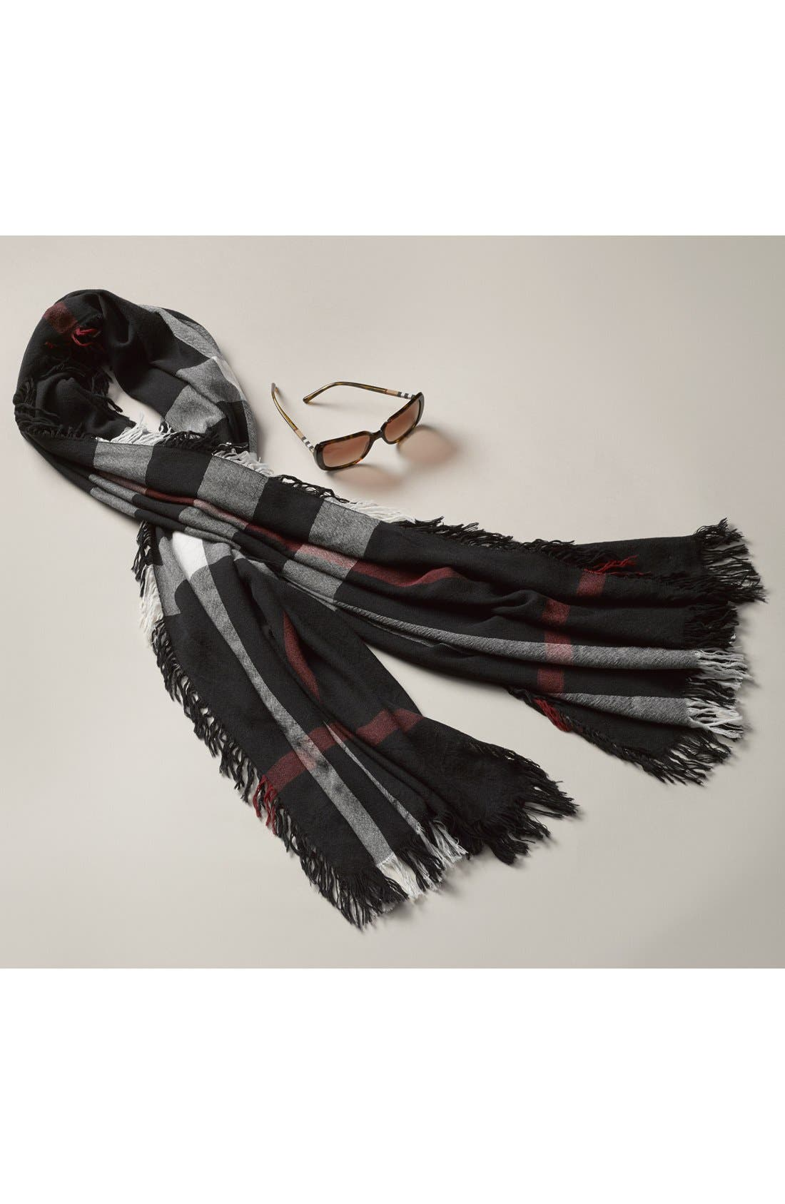 Alternate Image 5  - Burberry Check Merino Wool Scarf (Nordstrom Exclusive)