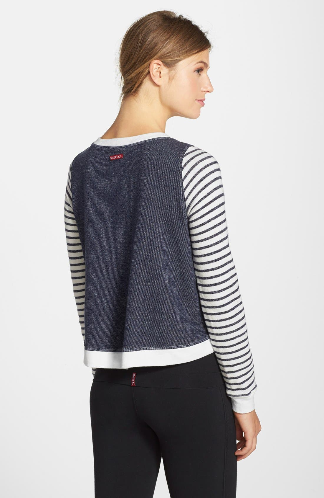 Alternate Image 2  - Hard Tail Stripe Crop Sweatshirt