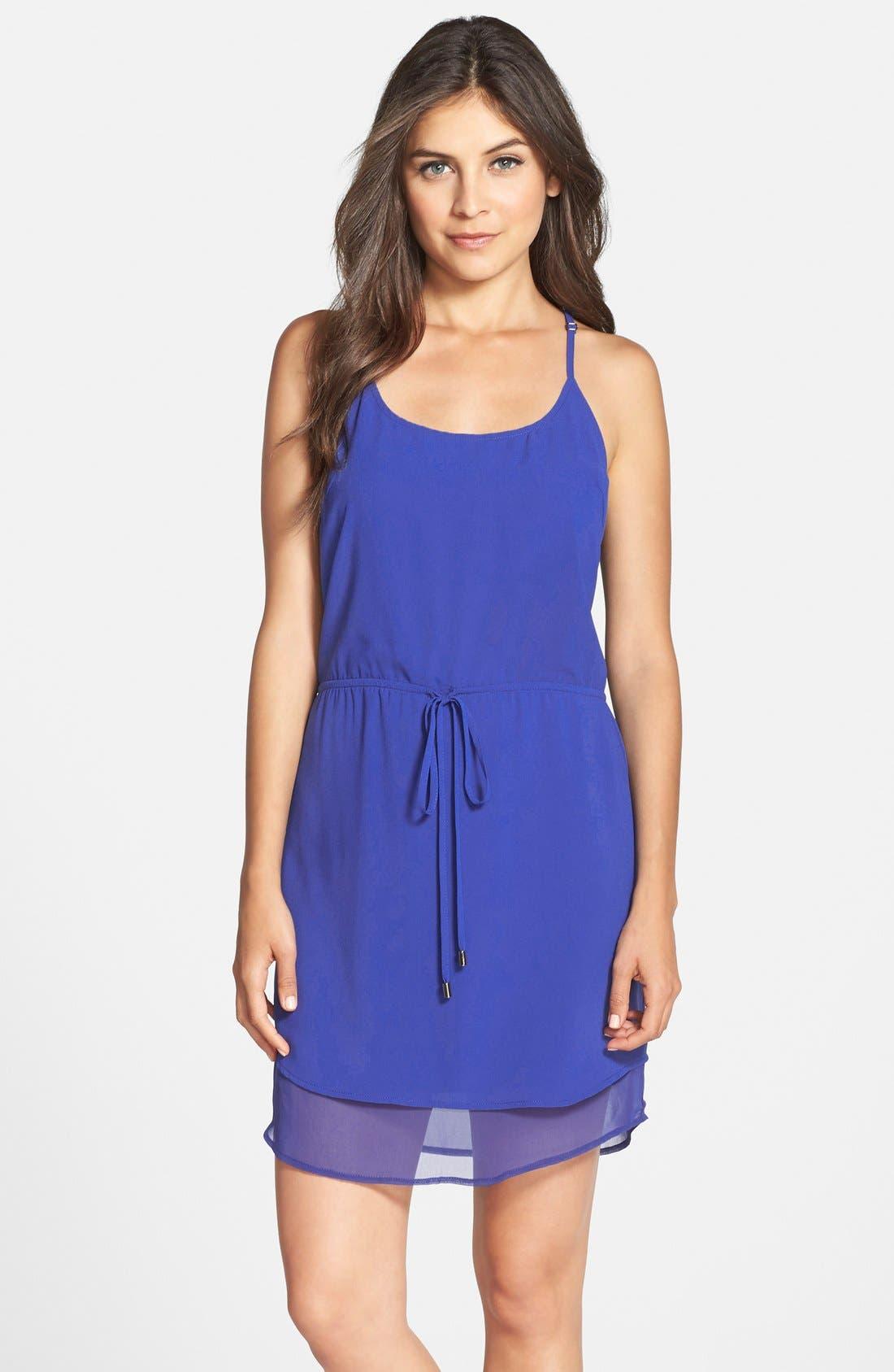 Alternate Image 1 Selected - Adelyn Rae Layered Drawstring Chiffon Dress