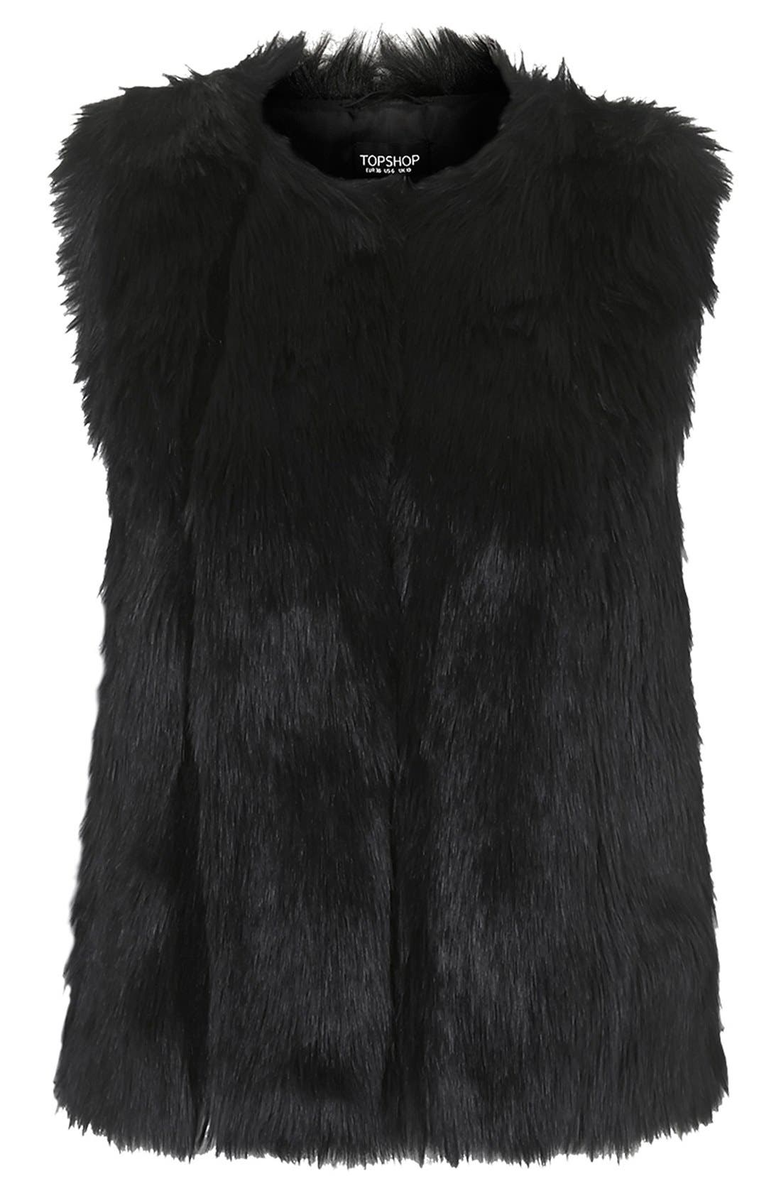 Alternate Image 4  - Topshop 'Leah' Faux Fur Vest
