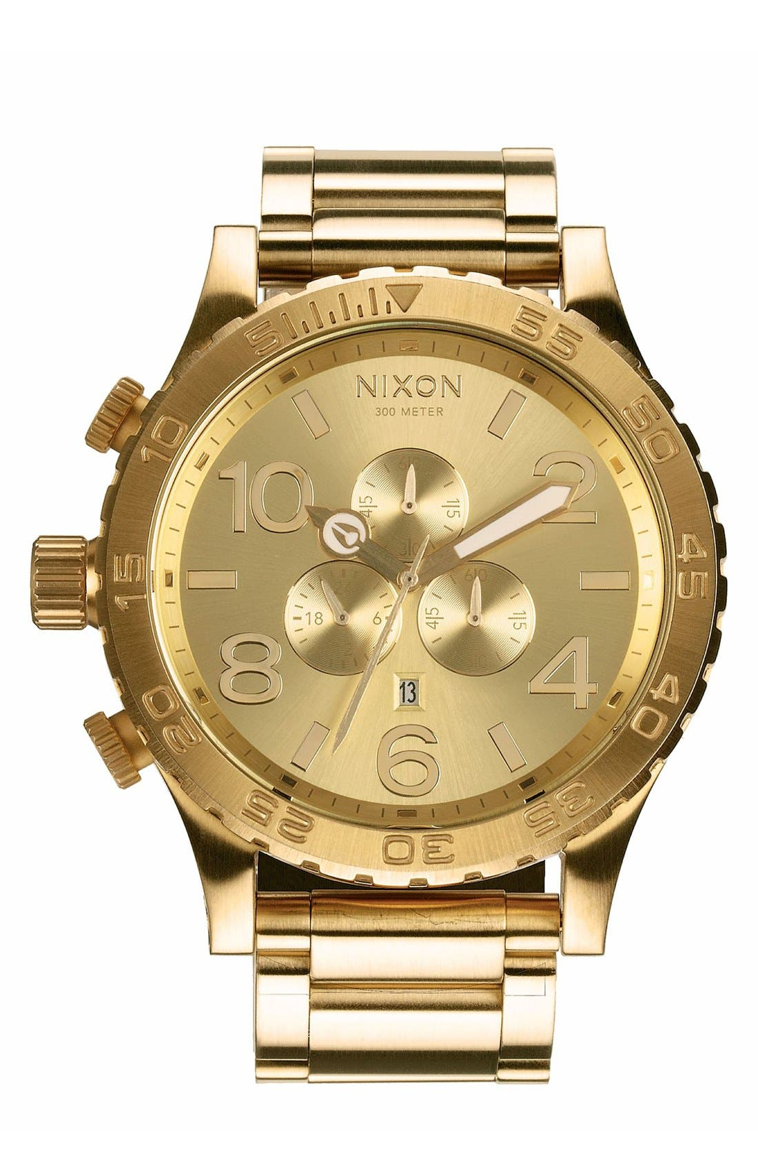 'The 51-30 Chrono' Watch, 51mm,                         Main,                         color, Gold