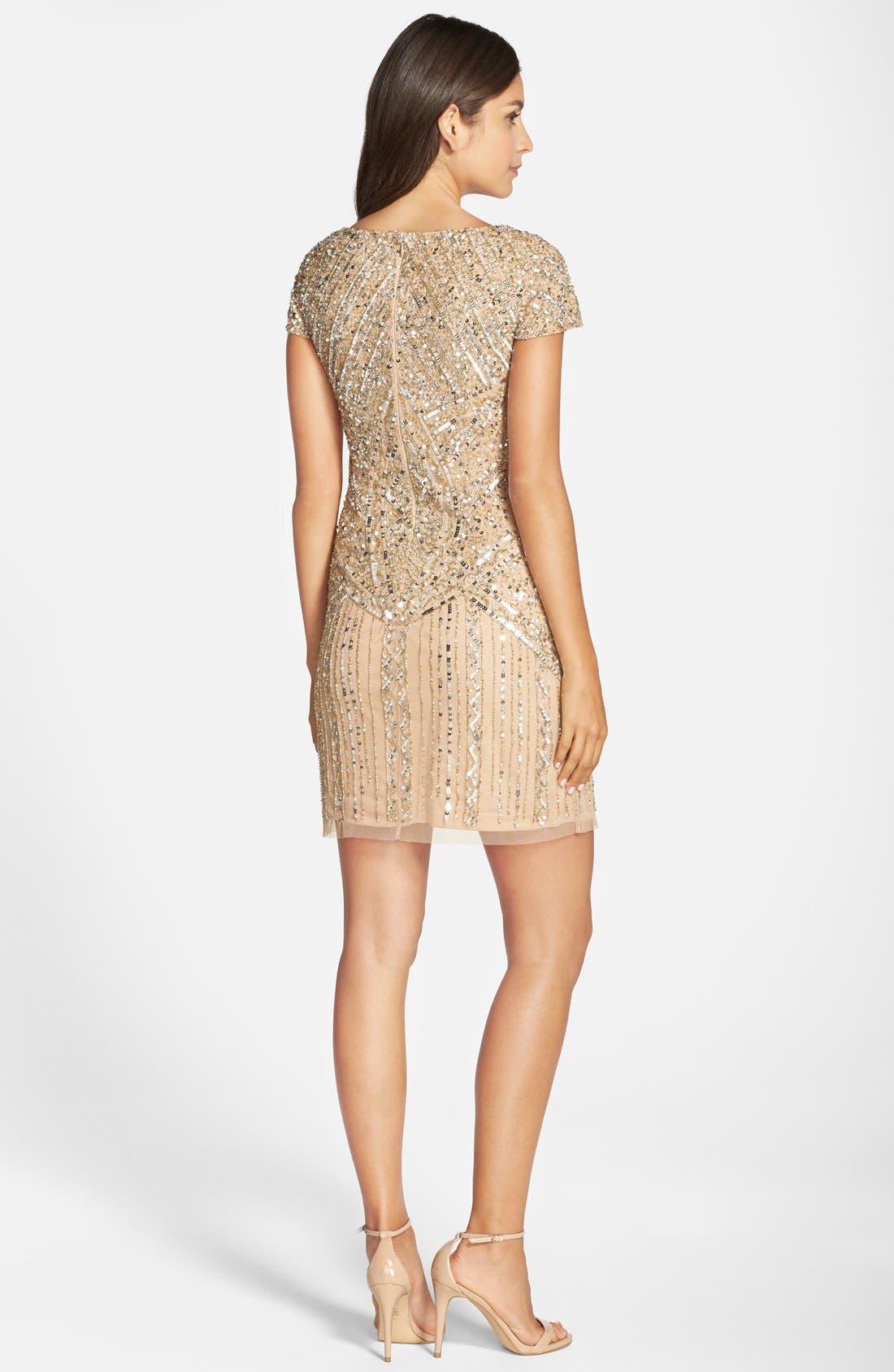 Alternate Image 2  - Adrianna Papell Embellished Sheath Dress