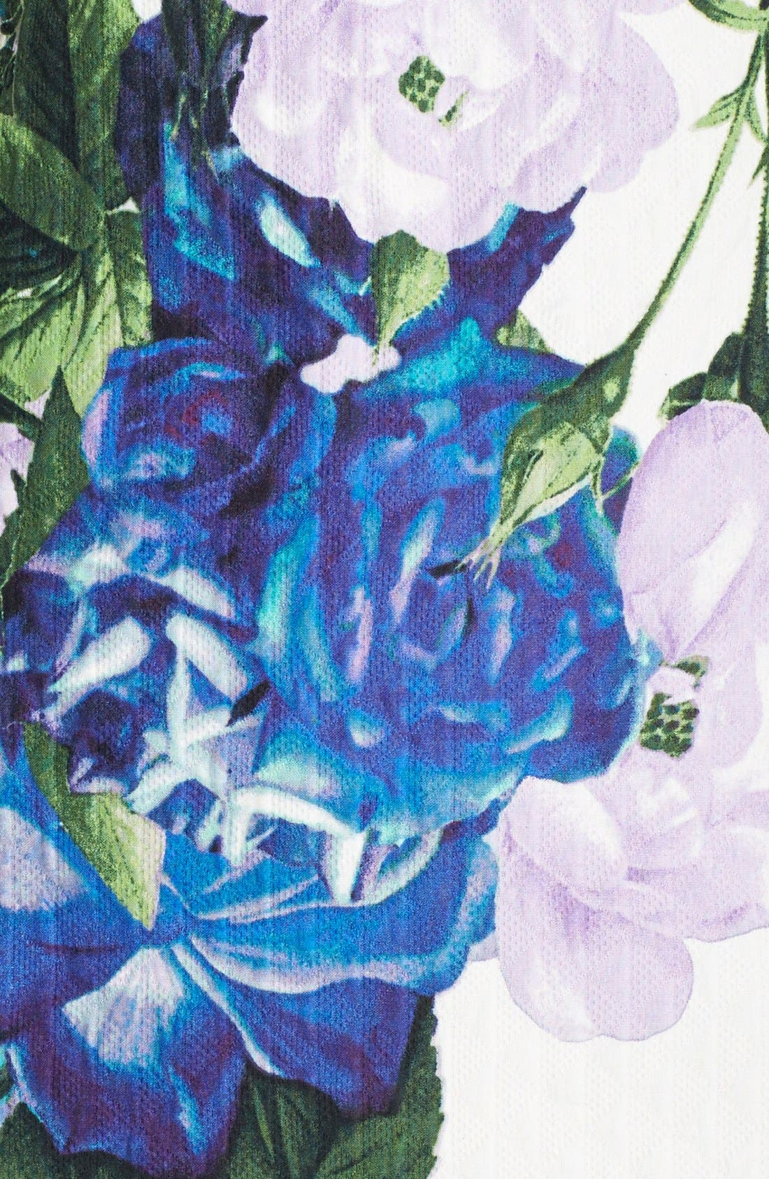 Alternate Image 4  - Eliza J Floral Jacquard Cotton Shift Dress (Regular & Petite)