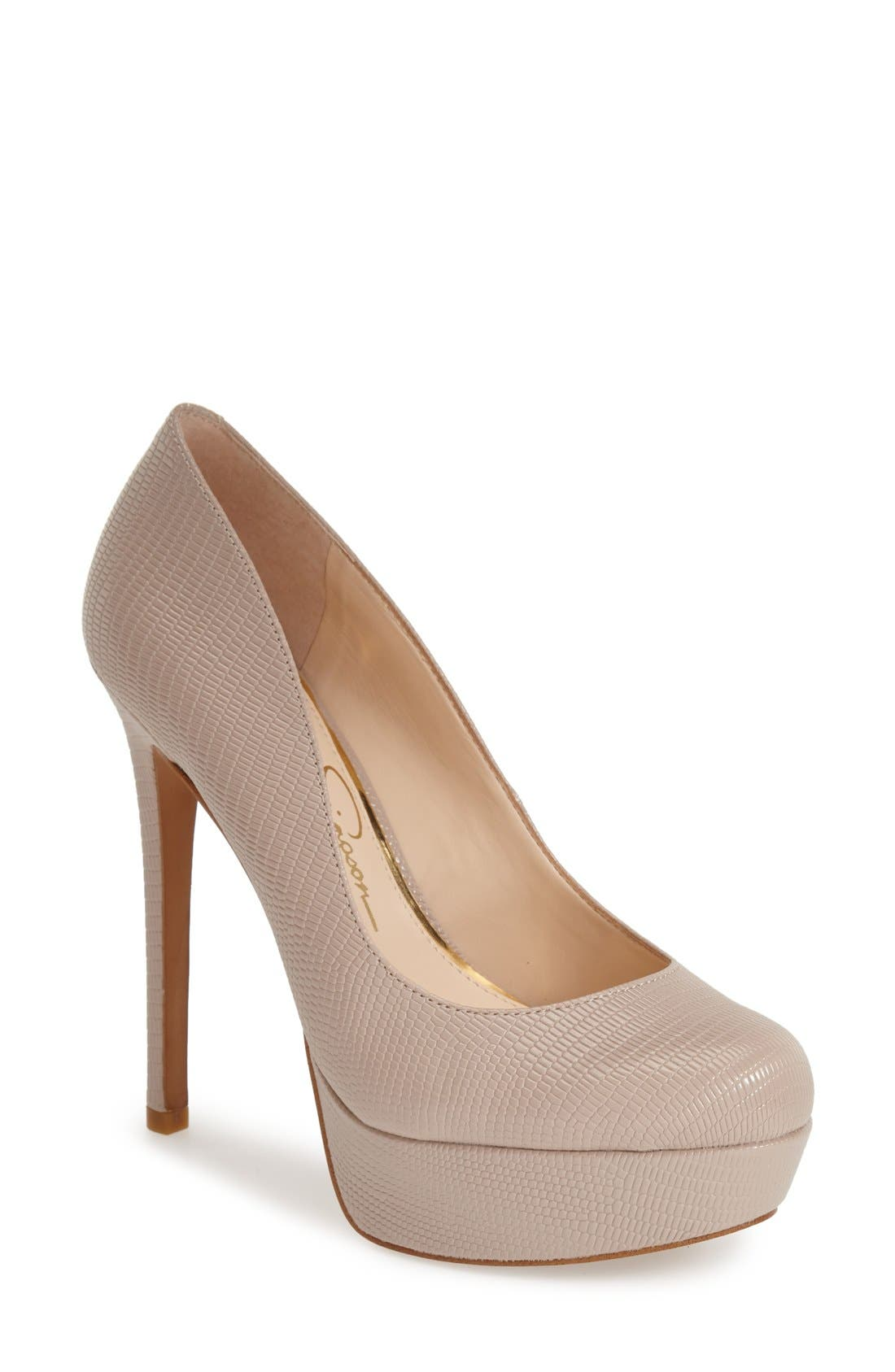 Alternate Image 1 Selected - Jessica Simpson 'Sandrah' Platform Pump (Women)