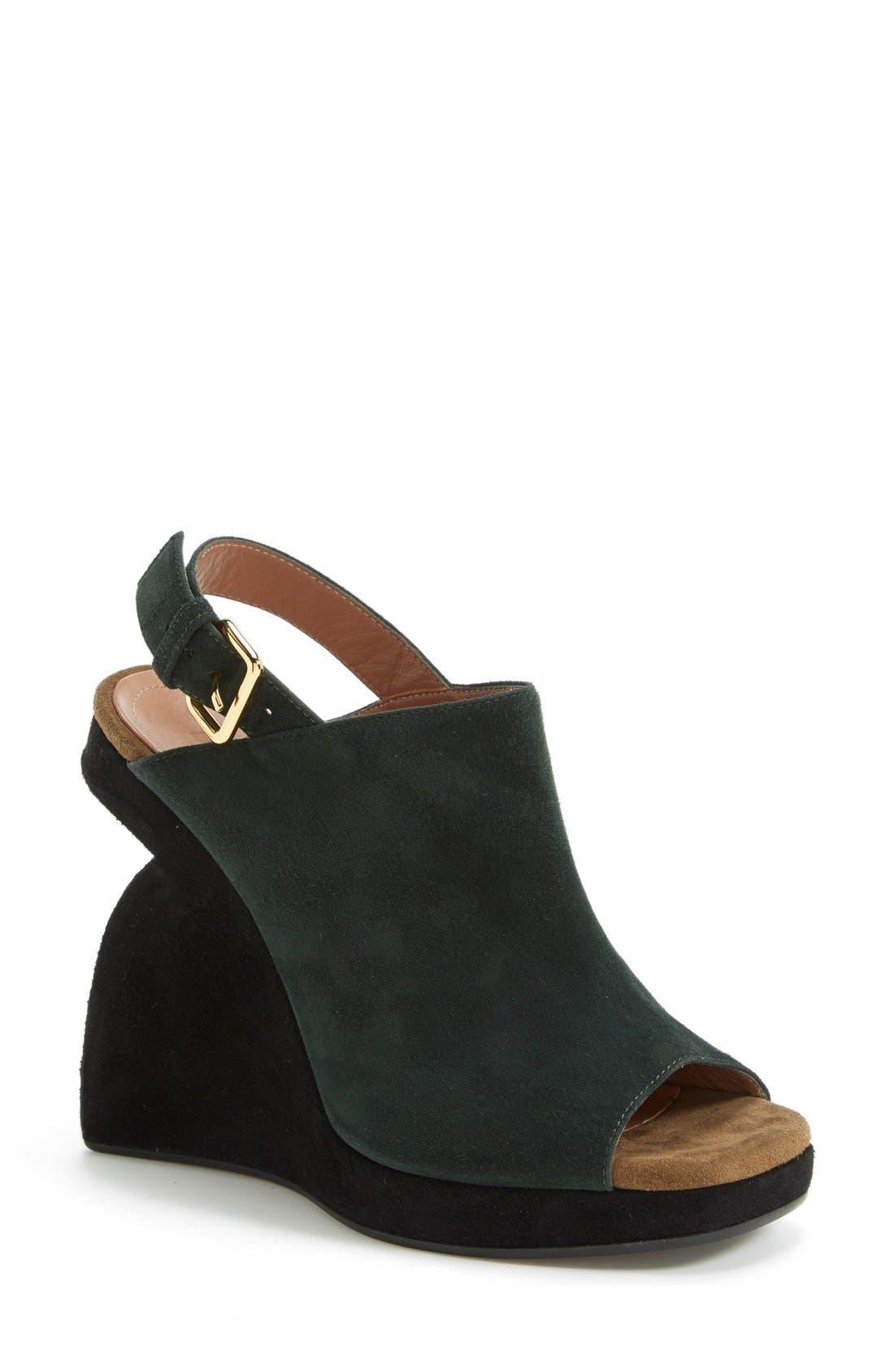 Alternate Image 1 Selected - Marni Slingback Wedge Sandal (Women)
