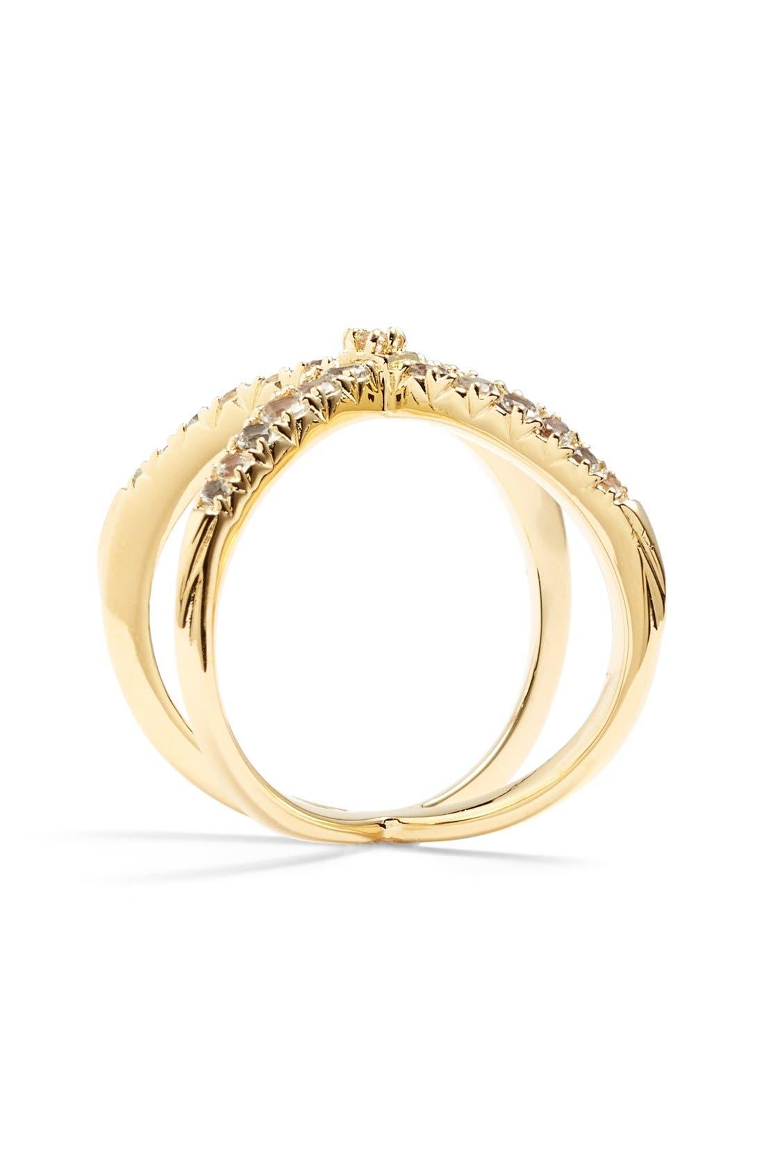 Alternate Image 2  - Elizabeth and James 'Windrose' Pavé White Topaz Ring